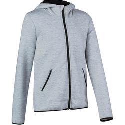 Veste chaude zippée capuche imprimé Gym fille