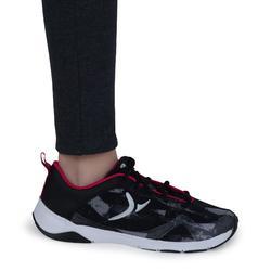 Warme gymlegging 100 voor meisjes grijs