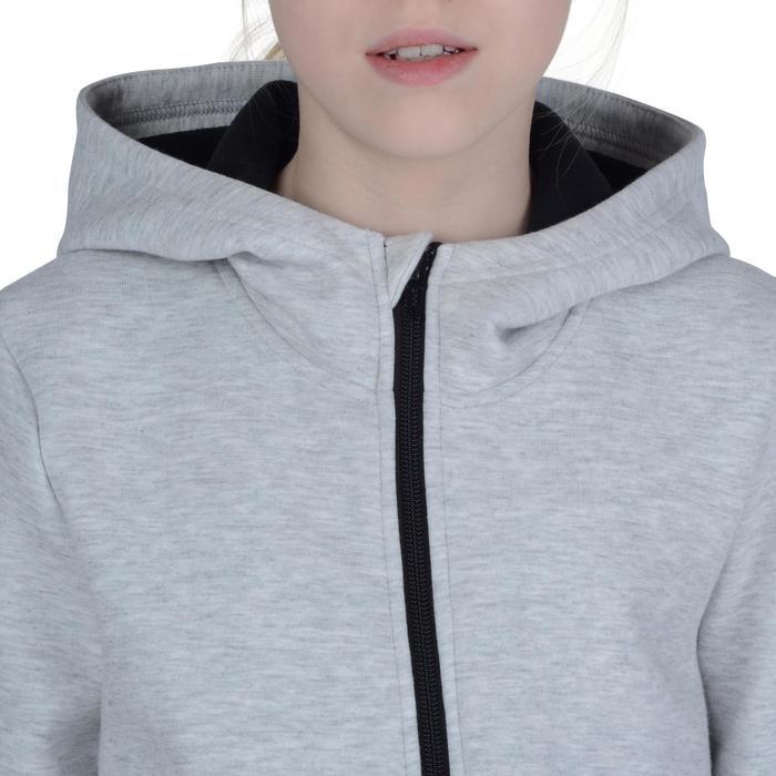 Veste chaude zippée capuche imprimé Gym fille - 1191036