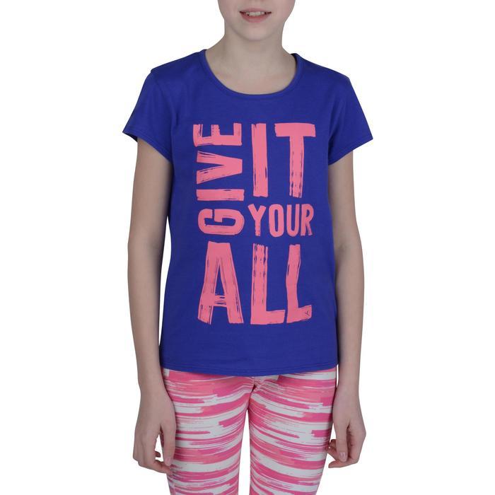 T-Shirt manches courtes 100 Gym fille imprimé - 1191050