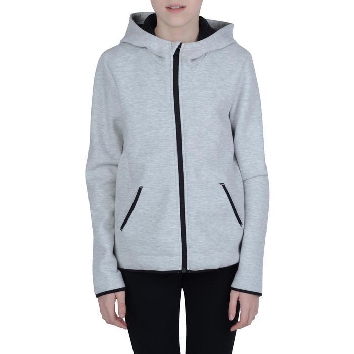 Veste chaude zippée capuche imprimé Gym fille - 1191070