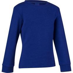 Gymsweater 100, voor meisjes, blauw