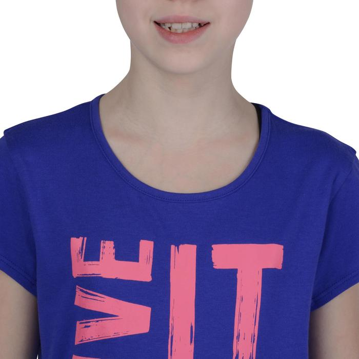 T-Shirt manches courtes 100 Gym fille imprimé - 1191082