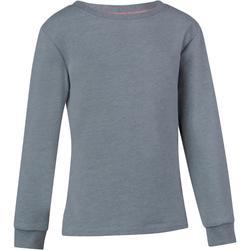 Gymsweater 100 voor meisjes grijs