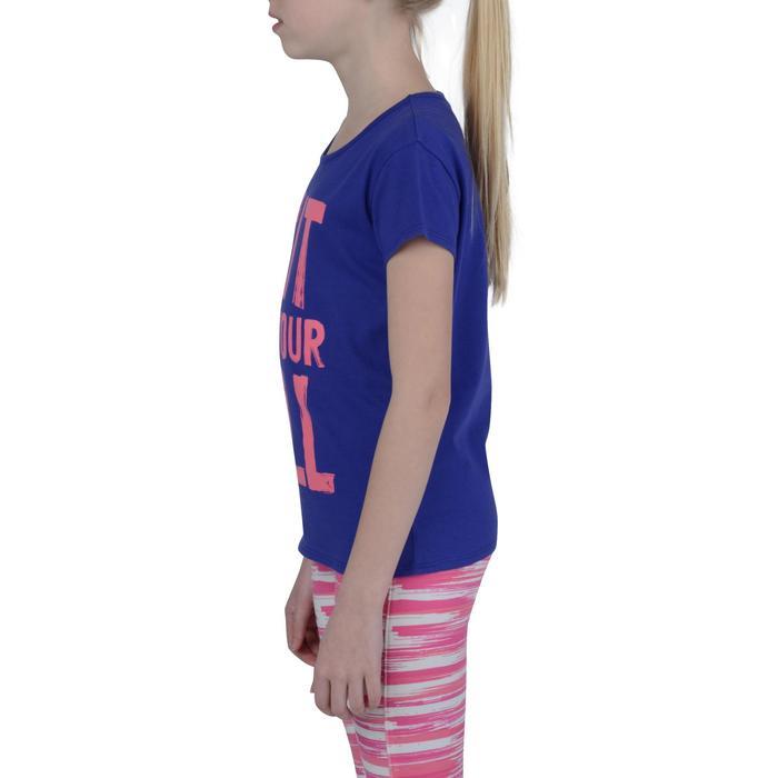 T-Shirt manches courtes 100 Gym fille imprimé - 1191090