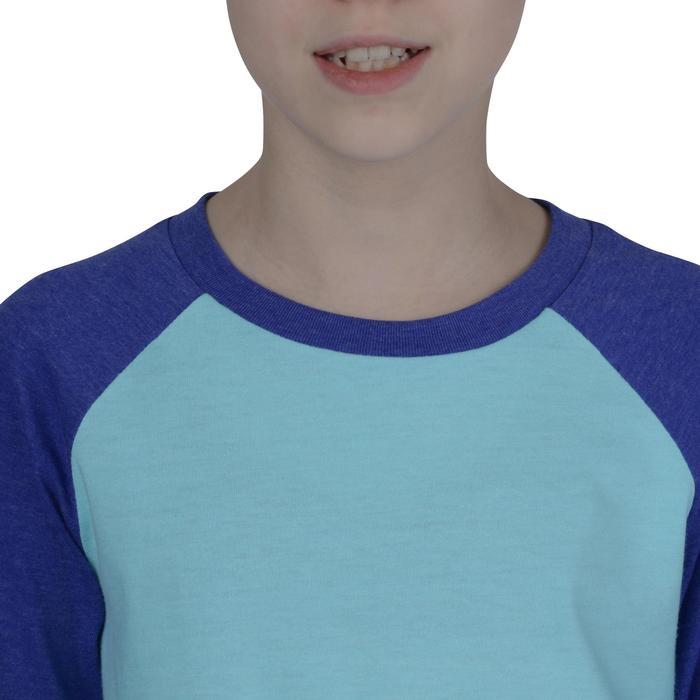 fd817aa42 Camiseta Manga Larga Deportiva Gimnasia Domyos 500 Niña Azul Turquesa Lila