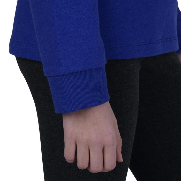 Sudadera 100 gimnasia niña azul