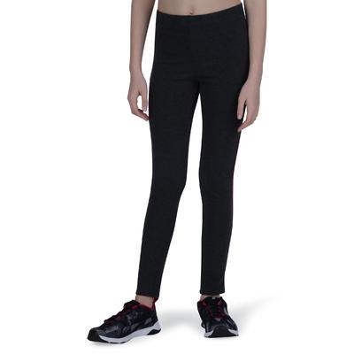 100 Girls' Warm Gym Leggings - Grey