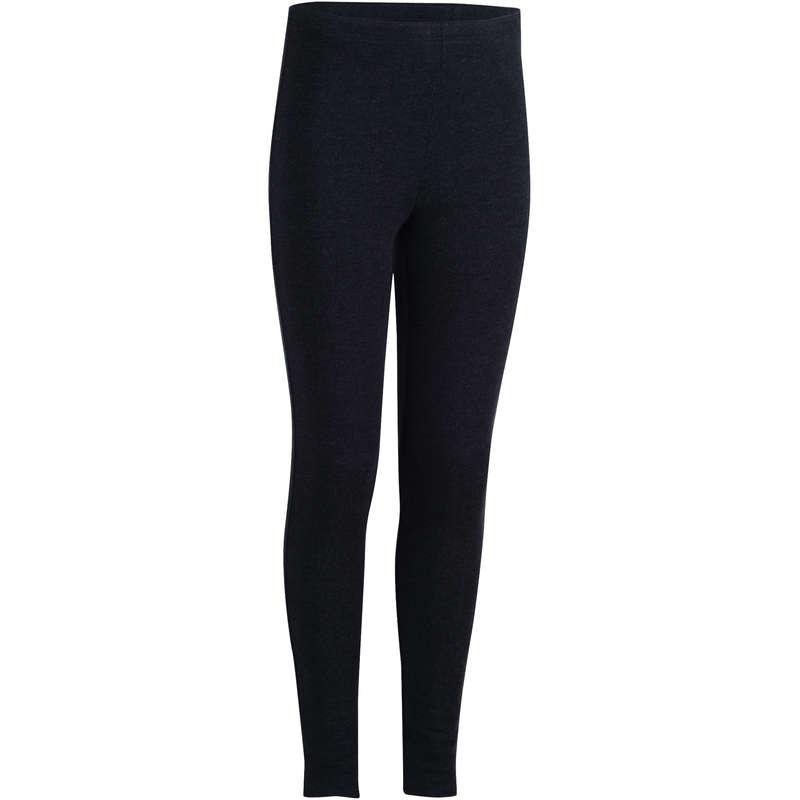 GIRL EDUCATIONAL GYM COLD WEATHER APP - 100 Warm Gym Leggings - Grey DOMYOS