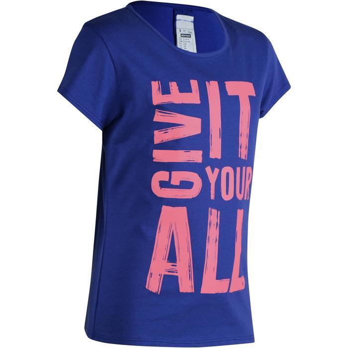 T-Shirt manches courtes 100 Gym fille imprimé - 1191164