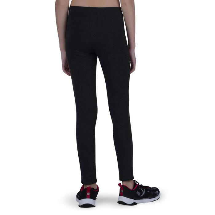 Legging chaud 100 Gym Fille gris