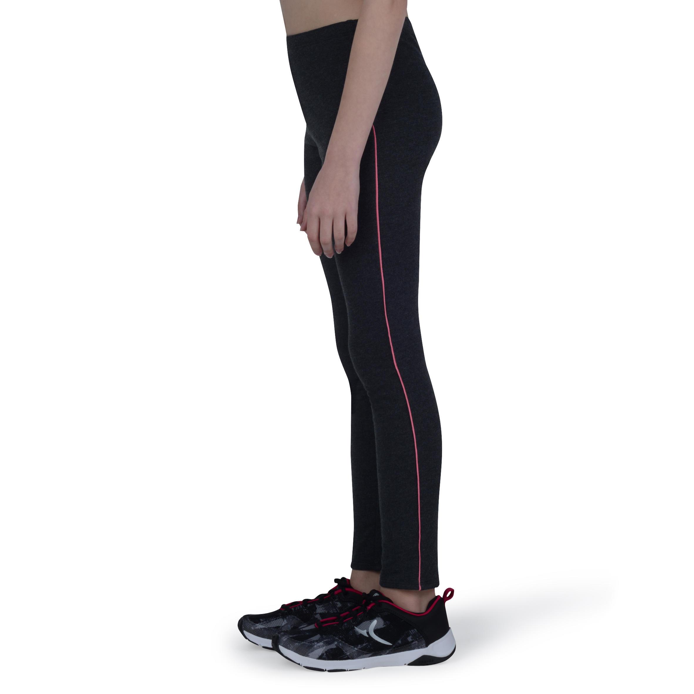 Girls' Warm Gym Leggings - Grey