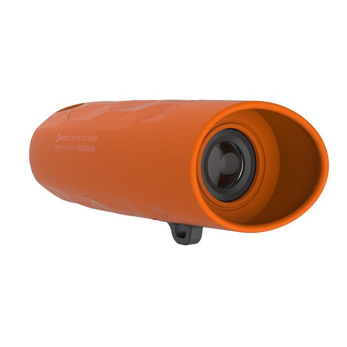 Monocular de senderismo niño sin ajuste M 100 aumento x6 naranja