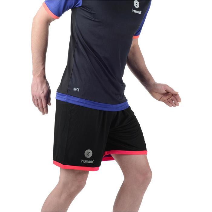 Handbalshort Hummel Campaign voor heren zwart/roze + zilver chevrons 2017