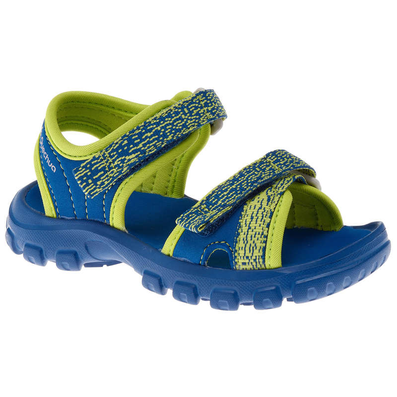 CHILDREN HIKING SANDALS Hiking - MH100 Kids Walking Sandals - Blue  QUECHUA - Outdoor Shoes