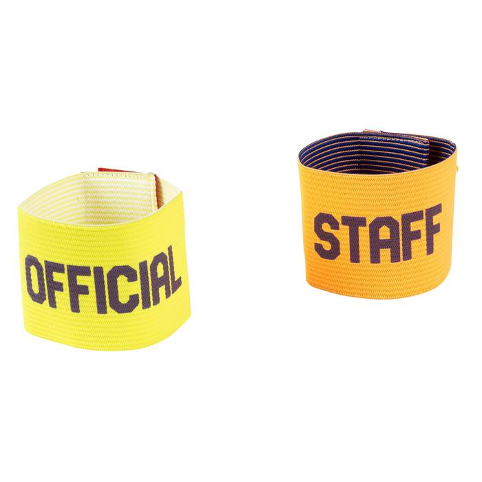 Set armbanden team geel oranje