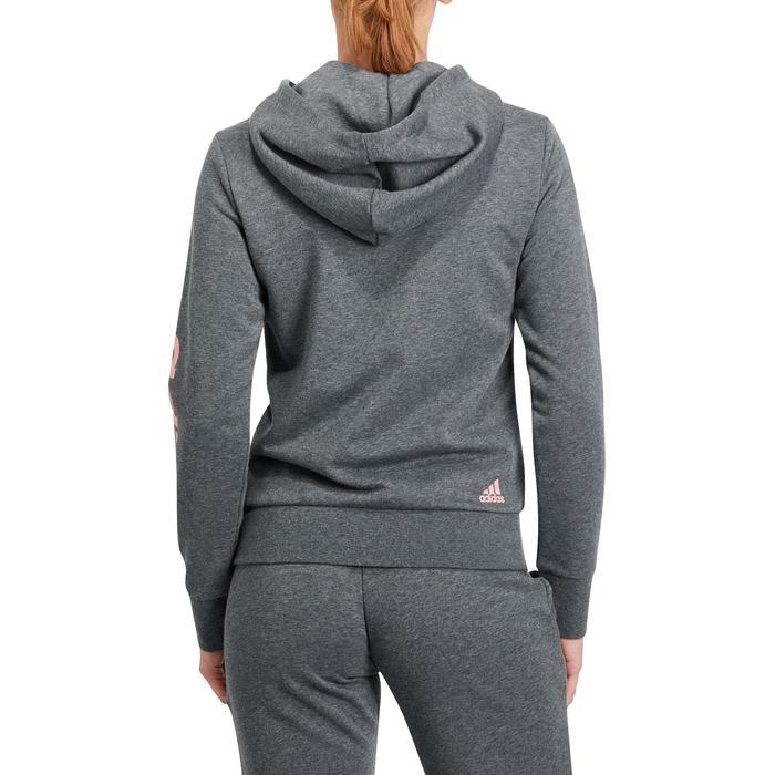 Veste gym pilates femme gris foncé rose - 1191434