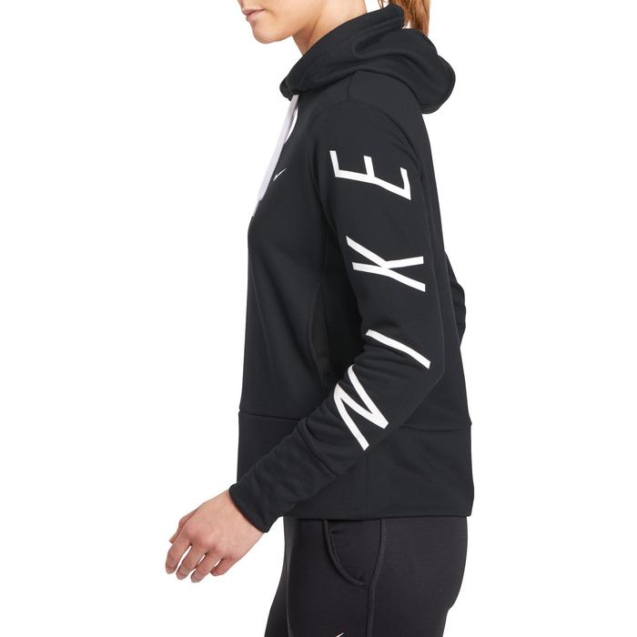 Hoodie DRI-FIT voor gym en pilates zwart - 1191457