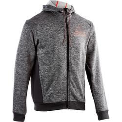 Heren hoodie voor gym en pilates grijs