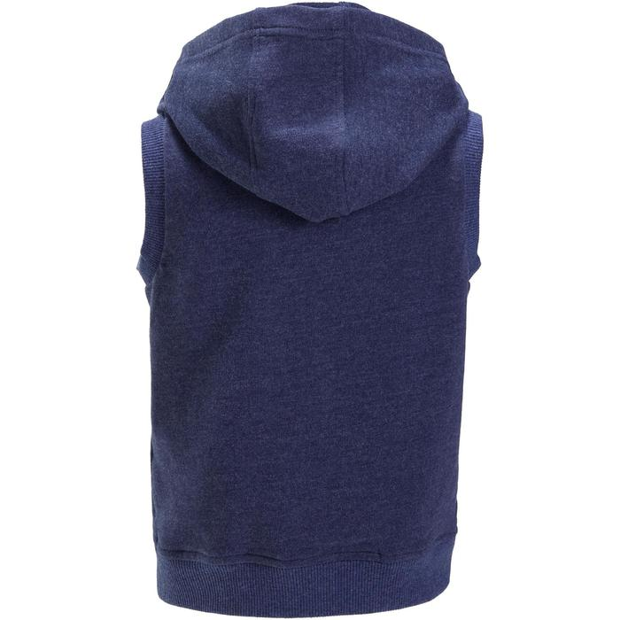 Veste chaude sans manches zippée capuche Gym baby bleu - 1191544