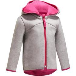 Veste 540 Gym Baby capuche gris rose