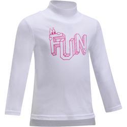 Baby Long-Sleeved Gym T-shirt - White Print
