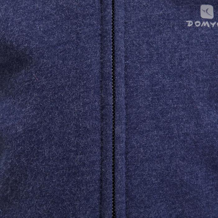 Veste chaude sans manches zippée capuche Gym baby bleu - 1191618