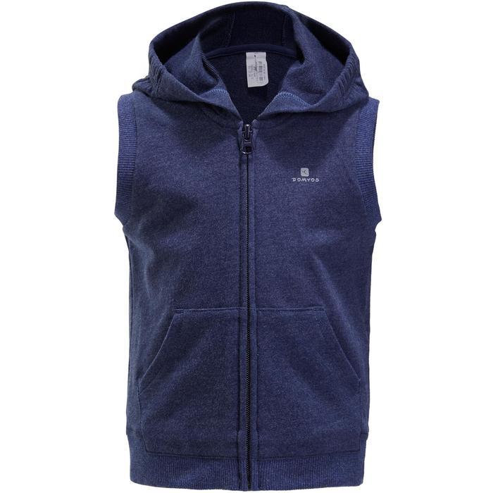 Veste chaude sans manches zippée capuche Gym baby bleu - 1191630