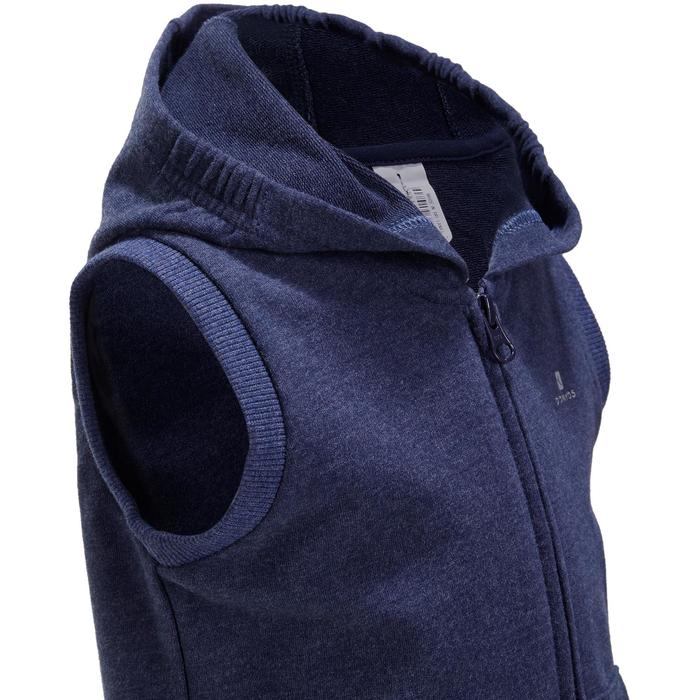 Veste chaude sans manches zippée capuche Gym baby bleu - 1191632