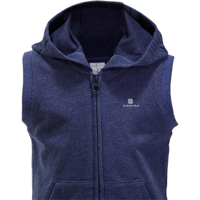 Veste chaude sans manches zippée capuche Gym baby bleu - 1191646