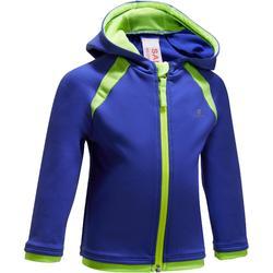 Hoodie rits 560 gym, voor peuters en kleuters, blauw