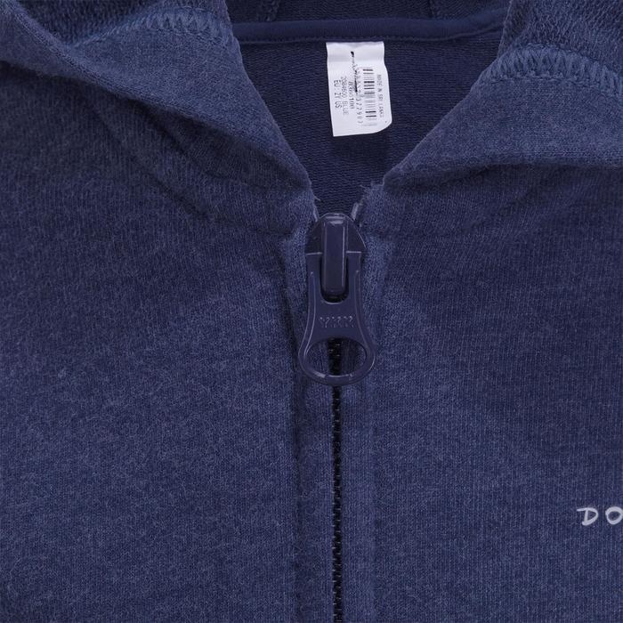 Veste chaude sans manches zippée capuche Gym baby bleu - 1191676