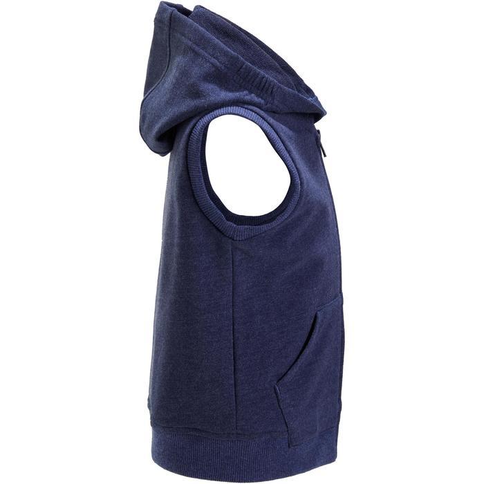 Veste chaude sans manches zippée capuche Gym baby bleu - 1191683