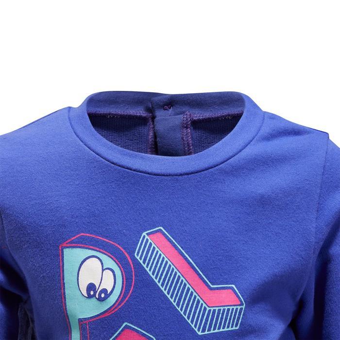 520 嬰幼兒健身房運動衫 - 藍色印花