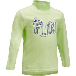 Baby Long-Sleeved High Neck Gym T-Shirt - Green