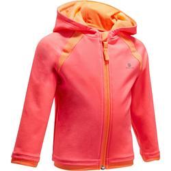 Chaqueta 560 gimnasia infantil capucha rosa