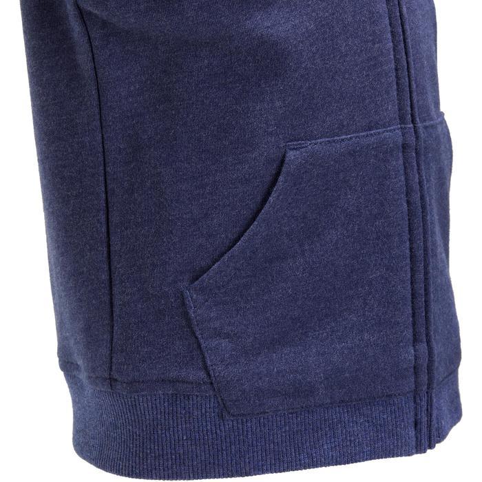 Veste chaude sans manches zippée capuche Gym baby bleu - 1191770