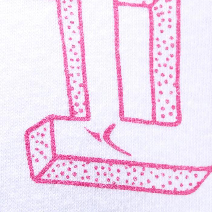 Set van 2 gymshirts met lange mouwen staande kraag print gym baby wit