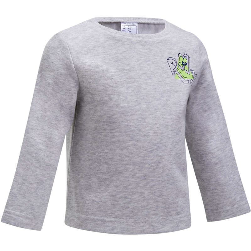 BABY GYM APPAREL Baby and Toddlers - 100 Gym Sweatshirt - Grey DOMYOS - Kids