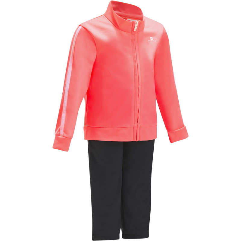 BABY GYM APPAREL Baby and Toddlers - S500 Gym'y Tracksuit - Pink DOMYOS - Kids