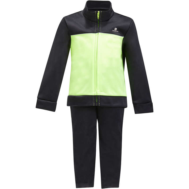 BABY GYM APPAREL Baby and Toddlers - S500 Gym'y Gym Tracksuit Green DOMYOS - Baby and Toddlers