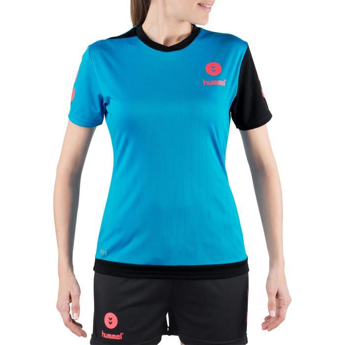 Camiseta de balonmano Hummel Campaign mujer azul/negro, espiguillas rosa 2017