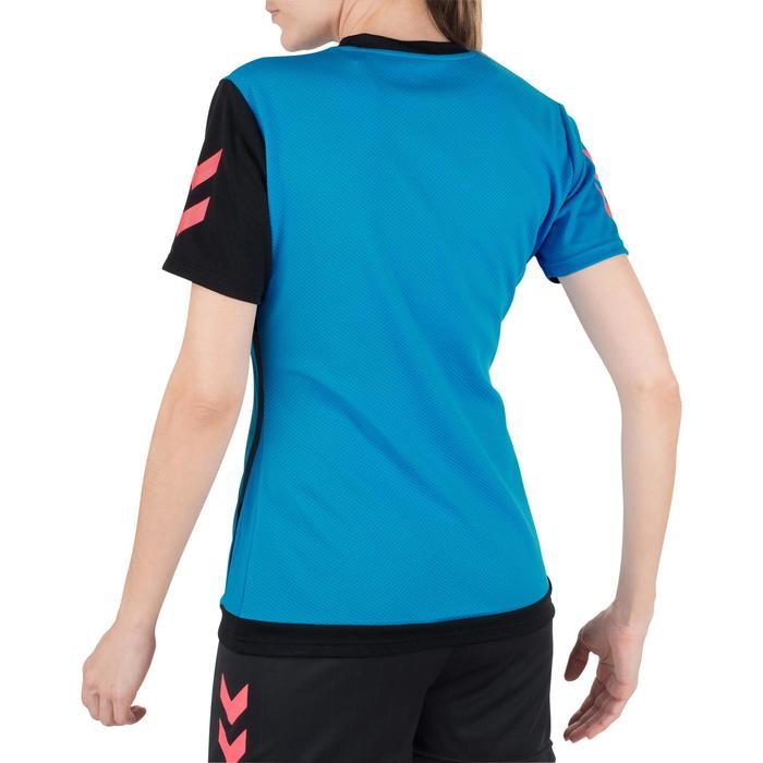 Camiseta de Balonmano Hummel Campaign Mujer Azul Negro