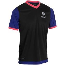 Handbalshirt Hummel Campaign voor heren zwart/blauw/roze + zilver chevrons 2017
