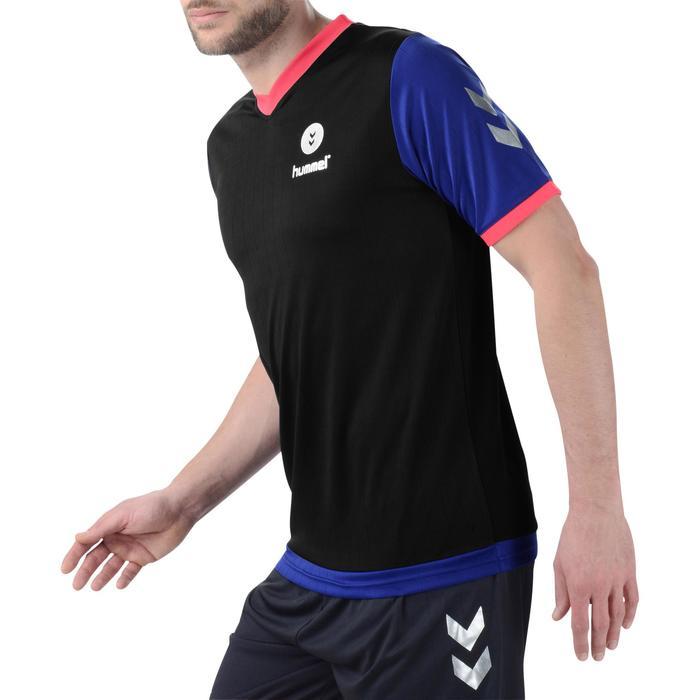 Maillot de handball Hummel Campaign homme noir/bleu/rose, chevrons argent 2017