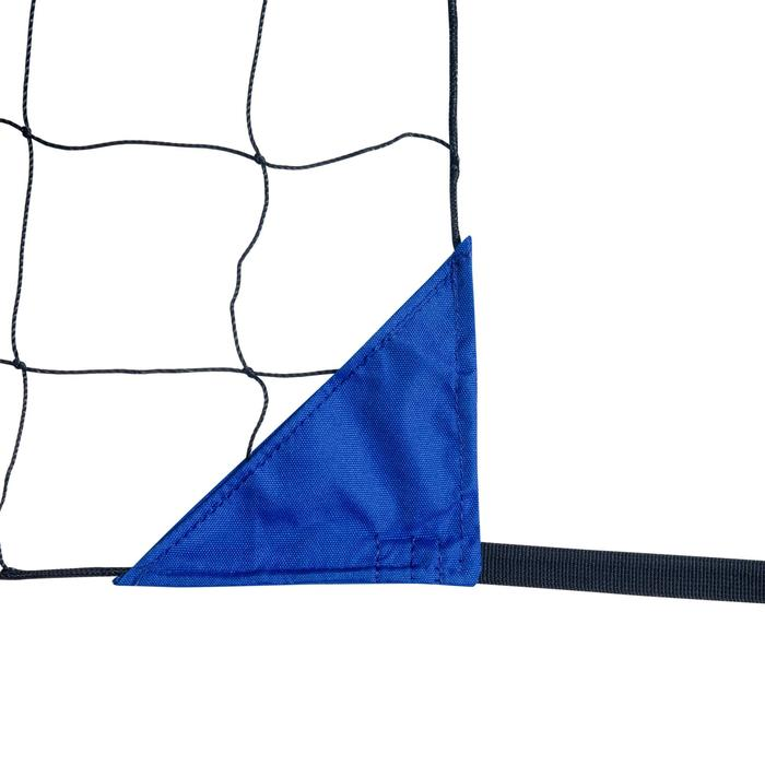 Beachvolleybalnet BV500, 6 meter breed blauw