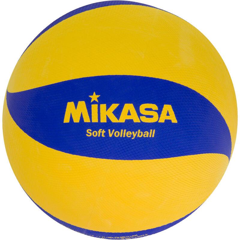 Ballon de soft volley 78cm jaune et bleu
