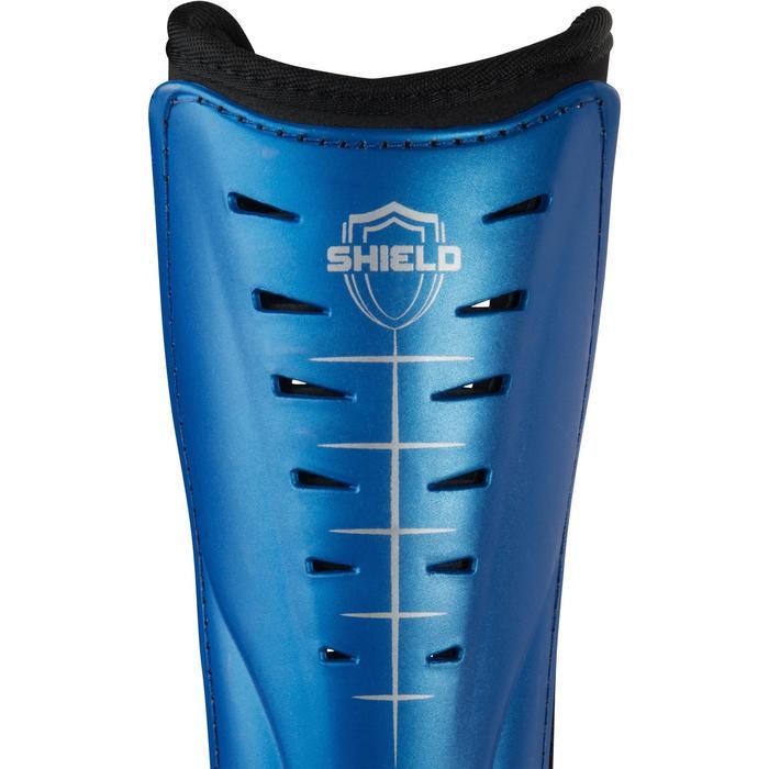 Espinilleras de hockey sobre hierba intensidad baja adulto Shield azul