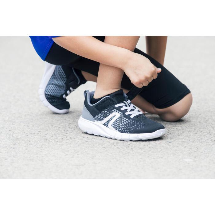 Chaussures marche enfant Soft 140 noir / blanc