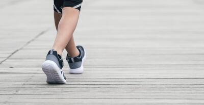 נעלי הליכה ספורטיביות לילדים דגם Soft 140 full - שחור